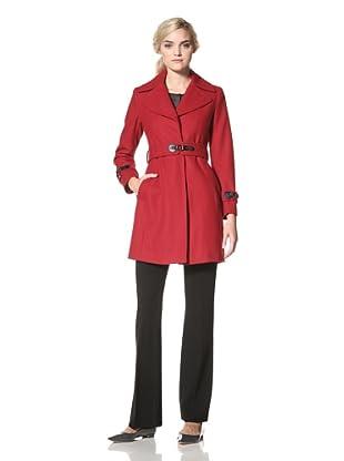 Via Spiga Women's Belted Wool Coat (Via Red)
