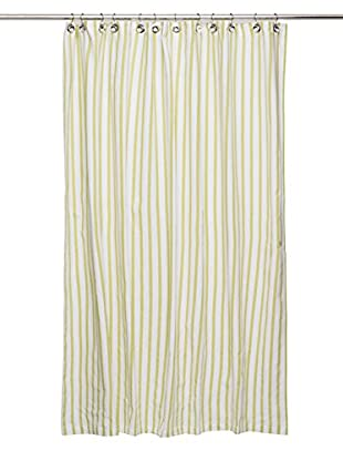 Nine Space Stripe Shower Curtain, Green