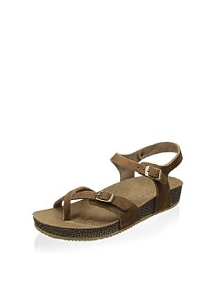 Lara + Lillian Women's Julie Quarter Strap Sandal (Tan)