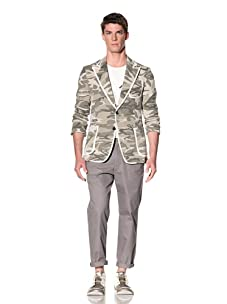 D by D Men's Camo Blazer (Khaki)