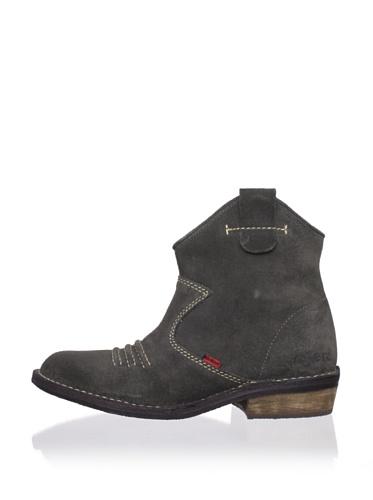 Kickers Kid's Starlow Short Boot (Big Kid) (Darkish Grey)