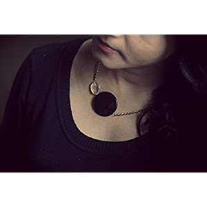 Knickknack Beautiful Flat Black Bead Necklace
