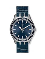 Swatch Blue Leather Analog Unisex Watch YTS408