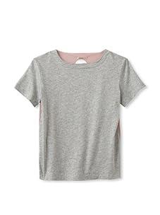 kicokids Girl's 2-Texture Jersey Tee (Potpourri/Grey)