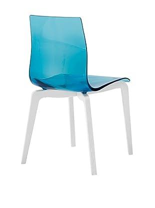Domitalia Gel-L Chair, Transparent Blue/Ash White
