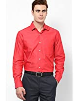 Red Full Sleeve Formal Shirts Peter England