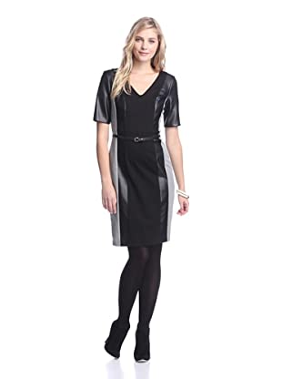 Nue by Shani Women's Mixed Media Dress (Black)