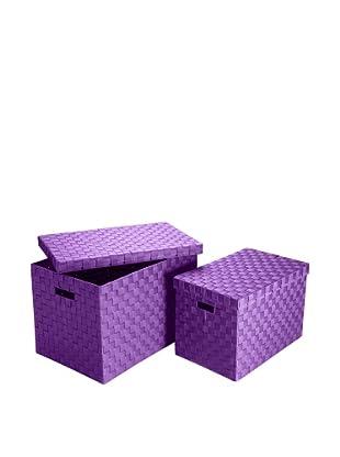 Zings Aufbewahrungsbox 2er Set violett