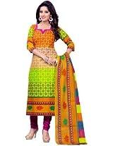 Samskruti Unstitched Cotton Printed Chudidar (Dress Material) (436)