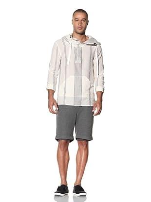 Nicholas K Men's Astro Lightweight Woven Shirt (Black Sail Stripe)