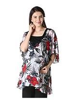 Morph Flowy Floral Kaftan Top (Large)