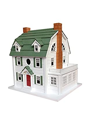 Home Bazaar Dutch Colonial (aka Amityville Horror House) Birdhouse, White/Green