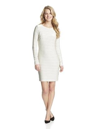 Jessica Simpson Women's Long Sleeve Sheath Dress (Cement/Black)
