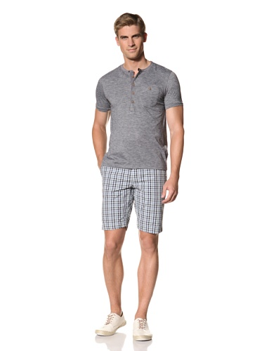 Ted Baker Men's Mindblo Short Sleeve Henley (Blue)