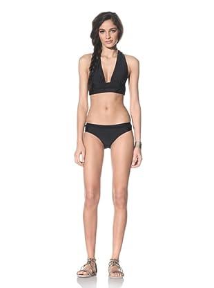 Tikka Women's String Bikini Top & Bottoms (Black)