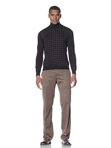 Cruciani Men's Turtleneck Sweater (Dark Violet/Grey)