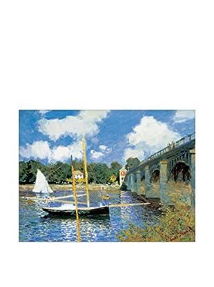 ArtopWeb Panel de Madera Monet Bridge At Argenteuil 80x60 cm