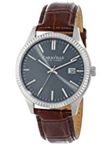 Caravelle by Bulova Dress Analog Grey Dial Men's Watch - 43B132