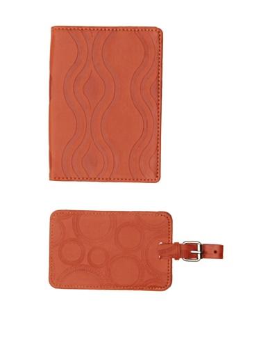 Mudlark Traveler's Gift Set Passport Cover and Luggage Tag, Artifact