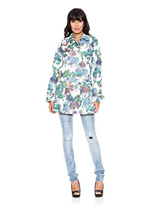 Desigual Abrigo Trench Native Love (Hielo)