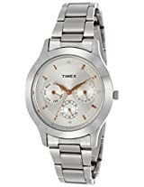 Timex E Class Analog Silver Dial Women's Watch - TI000Q80300