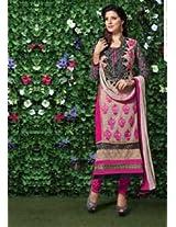 Viva N Diva Beige Color Georgette Straight Cut Salwar Suit - 3001