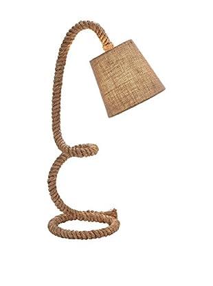 Metal & Rope 1-Light Task Lamp, Natural