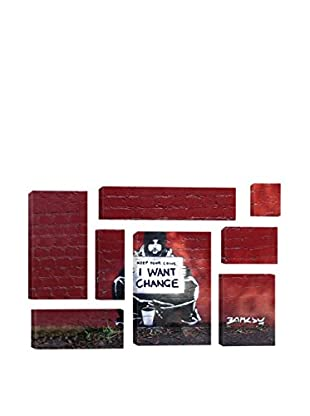 Banksy Keep Your Coins. I Want Change By Meek 8-Piece Giclée On Canvas