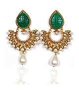 Sunehri Pearl emerald Earrings for Women
