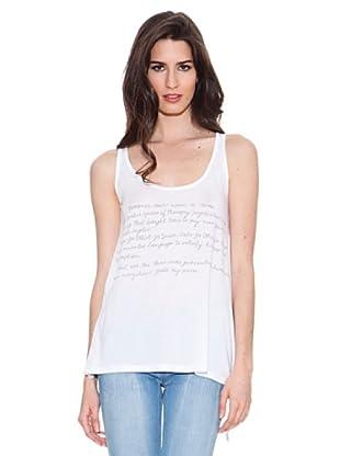Santa Bárbara Camiseta Print (Blanco)