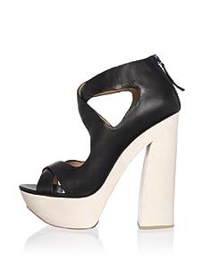 L.A.M.B. Women's Minny Platform Sandal (Black)