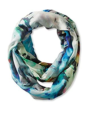 Saachi Women's Abstract Print Infinity Scarf, Blue/Green Multi