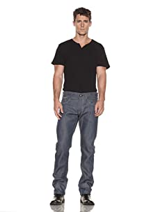 Edwin Men's 5 Pocket Japanese Red Selvage Slim Jean (Raw State Grey Cast)