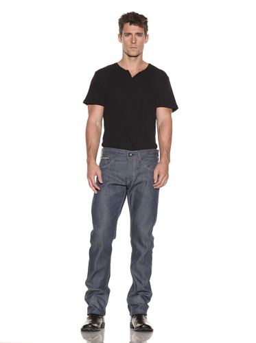 Edwin Men's 5 Pocket Japanese Red Selvage Slim Jeans (Raw State Grey Cast)
