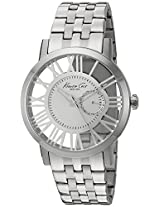 Kenneth Cole Transparency Analog Silver Dial Men'S Watch - 10020810