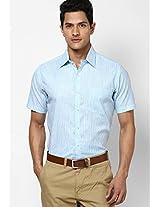 Checks Aqua Blue Formal Shirt Copperline