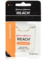 Johnson Johnson Reach Unwaxed Floss Unflavored 55 Yd