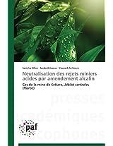 Neutralisation Des Rejets Miniers Acides Par Amendement Alcalin (Omn.Pres.Franc.)