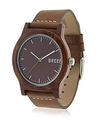 Breef Watches Reloj con movimiento japonés Unisex Sandalwood Original Marrón 40 x 11 mm