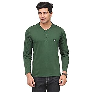Phoenix Green Henley Men T shirt fsp