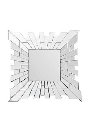 Abbyson Living Zama Small Square Wall Mirror, Silver
