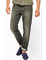 Washed Olive Skinny Fit Jeans