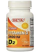 Deva Vegan Vitamins Vegan Vitamin D 2400 IU, 90-Count
