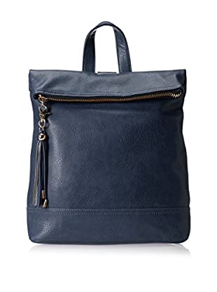 POVERTY FLATS by rian Women's Foldover Backpack, Navy