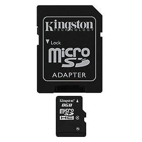 【クリックでお店のこの商品のページへ】Kingston 8GB microSDHC Class4 SDC4/8GB