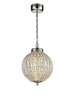 Artistic Lighting Crystal Sphere Collection LED Pendant, Polished Chrome