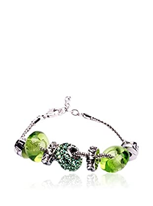SWAROVSKI ELEMENTS Pulsera Beads Verde
