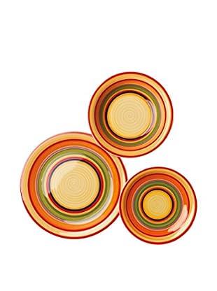Enjoy Home  Geschirr 18 tlg. Set Tijuana mehrfarbig