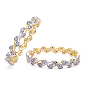 CZ STONE STUDDED BANGLE