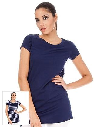 Cortefiel Pack Camisetas Combinada (Marino / Blanco)